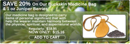 buckskin medicine bag sale