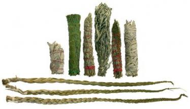 Smudge sticks and Sweetgrass