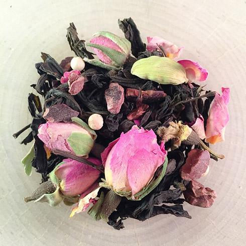 chocolate rose oolong tea from tea-o-graphy