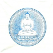 Blue Buddha prayer flag