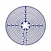 Labyrinth prayer flag