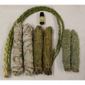 cedar, sage and sweetgrass smudging collection